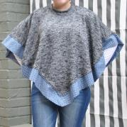 Poncho African Print Border - Wishes