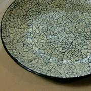 Ostrich Egg Mosaic Ceramic Bowl - Glacermo