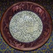 Wooden Bowl Hand Carved Border - Glacermo