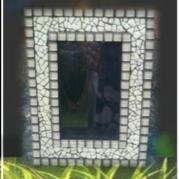 Picture Frame Ostrich Egg Shell Mosaic - Glacermo