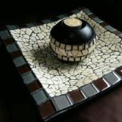 Square Platter & Small Candle Holder - Glacermo
