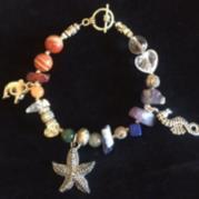 Sea Theme - Chakra Charm Bracelet