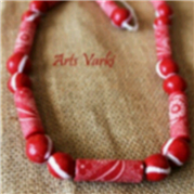 Paper and Clay Necklace 1 – Arts Vark