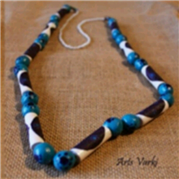 Paper and Clay Necklace 4 - Arts Varki