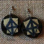 Round Wooden Earrings 3  – Arts Varki