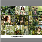Greensleeves Gift wrap set of 4